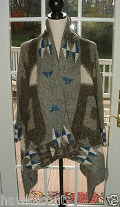 """LINE KNITWEAR """"THE FOLKLORE"""" ALPACE MOHAIR BLEND CARDIGAN SWEATER WRAP NEW $595+"""