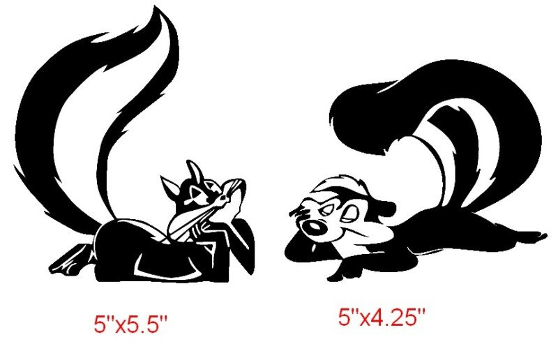 PENELOPE PUSSYCAT & PEPE LE PEW   Sticker Decal