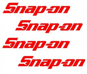 SNAP ON  TOOLS   SET OF FOUR   VINYL DECALS STICKERS