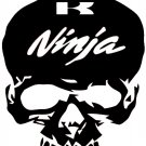 NINJA KAWASAKI   SKULL MOTORCYCLE   VINYL DECALS STICKERS