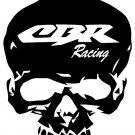 CBR HONDA  SKULL    VINYL DECALS STICKERS