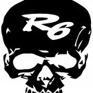 YAMAHA R6   SKULL    VINYL DECALS STICKERS