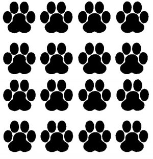 PAW PRINTS DOG ANIMALS  VINYL DECALS STICKERS
