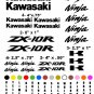 KAWASAKI ZX-10R CHOOSE YOUR COLOR VINYL DECALS STICKERS MOTORCYCLE RACING