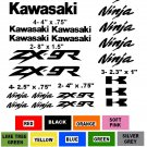 KAWASAKI ZX-9R CHOOSE YOUR COLOR VINYL DECALS STICKERS MOTORCYCLE RACING