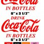 DRINK COKE IN BOTTLES  ANY COLOR coca-cola Sticker Decal