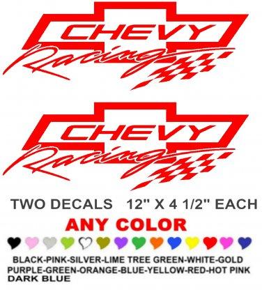 CHEVY RACING 2 STICKER DECALS  RACE