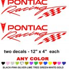 PONTIAC RACING STICKER DECALS  RACE