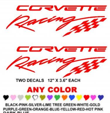 CORVETTE RACING STICKER DECALS  RACE