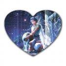Aquarius Heart-shaped Mouse Pad
