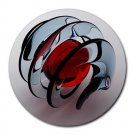 Glass Spiral Round Mouse Pad