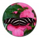 Black & White Butterfly 1 Round Mouse Pad