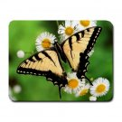 Yellow Butterfly 2 Small Mouse Pad