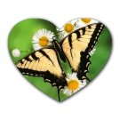 Yellow Butterfly 2 Heart-shaped Mouse Pad