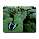 Sky Blue & Black Butterfly Small Mouse Pad