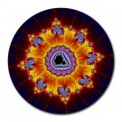 Fractal Pattern 1 Round Mouse Pad