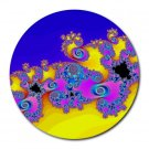 Fractal Pattern 3 Round Mouse Pad