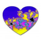 Fractal Pattern 3 Heart-shaped Mouse Pad