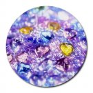 """""""Sparkly Hearts"""" Round Mouse Pad"""