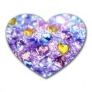 """Sparkly Hearts"" Heart-shaped Mouse Pad"