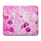 """Pink Glitter"" Large Mouse Pad"