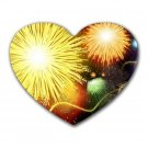 """Yellow Burst"" Heart-shaped Mouse Pad"