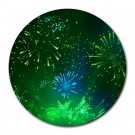 """Green Burst"" Round Mouse Pad"