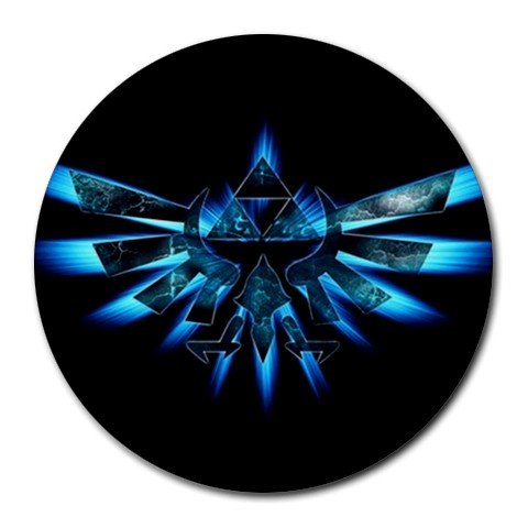 Zelda - Triforce Round Mouse Pad