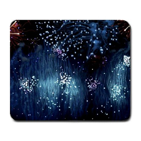 """Blue Rain"" Large Mouse Pad"