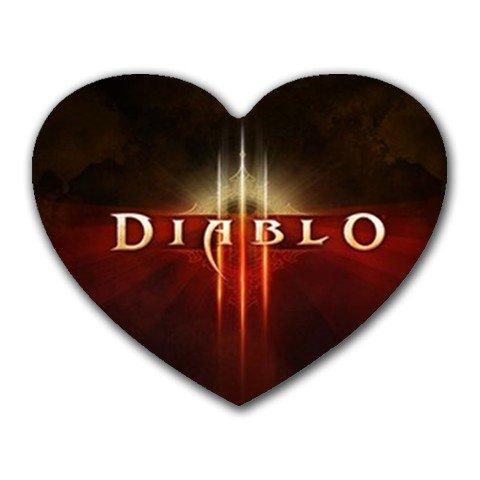 Diablo 3 Heart-shaped Mouse Pad