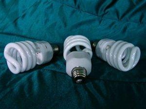 3- FULL SPECTRUM DAYLIGHT GROW/CFL FLUORESCENT BULBS