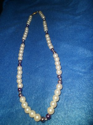 Purple & Pearl Neckace