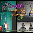 Earrings 10 Pair for $10
