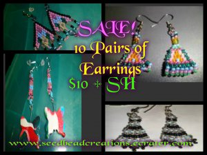 Earrings 10 Pair for $10
