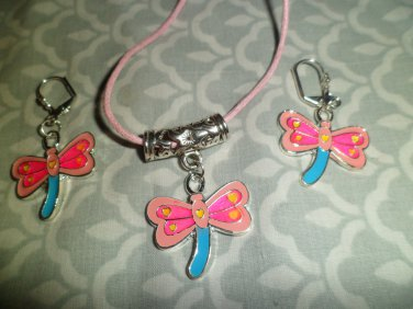 Pink & Blue Dragonfly Set