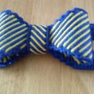 blue/yellow bow