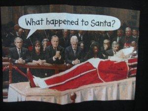 George W Bush Pope Santa Tee Shirt T-Shirt