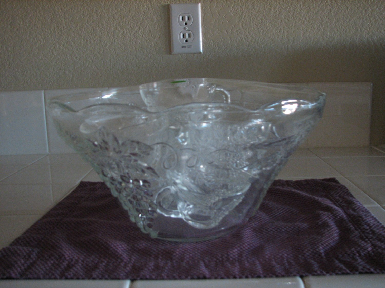 Vintage Anchor Hocking Punch Bowl with Cups