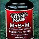 M.S.M 1177 mg (Methyl Sulfonylmethane) Equivalent to Biological Sulfur - 400 mg