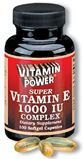 Natural Vitamin E - 1000 Complex (Size 250) - Highest Potency Vitamin E Available In One Capsule