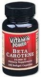 Beta Carotene Softgel Capsules Natures Powerful Vegetable Antioxidant