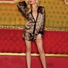 Joan Leopard Sleep Shirt and Boxer Short S/M/L