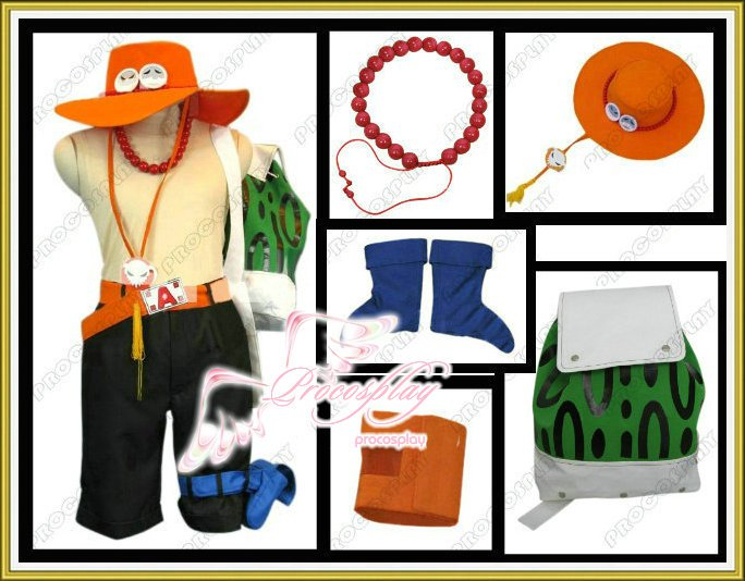 New One Piece Portgas·D· Ace Cosplay Costume Any Size