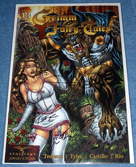 Grimm Fairy Tales Signed BEAUTY & BEAST 13 Zenescope