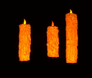 ORANGE Set Holiday Halloween Floating Candle Illusion Great Hall Harry Potter