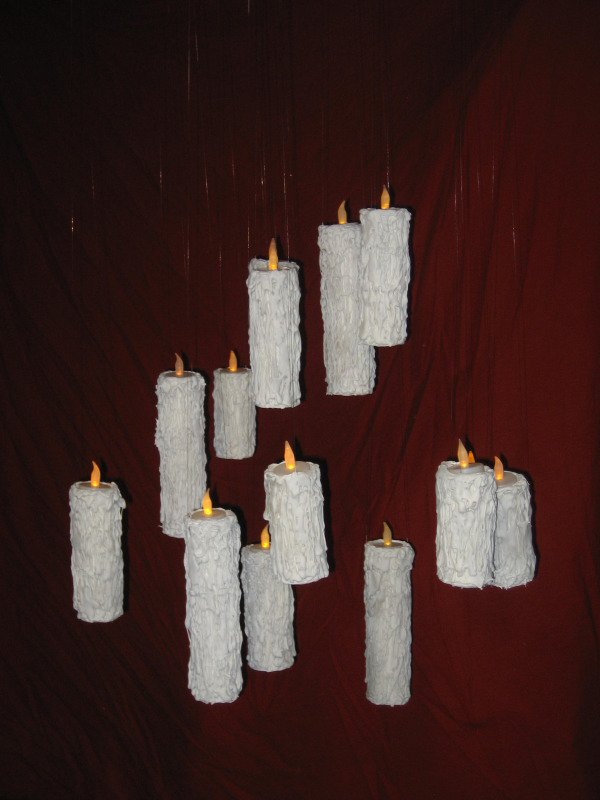 Set of Three Halloween Floating Candles Harry Potter Great Hall Candle Illusion