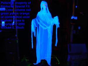 Halloween Hanging Ghost Decoration Blacklight Floating Flying Prop Blue Lady