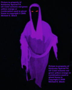Purple Evil Halloween Hanging Ghost Decoration Blacklight Floating Flying Prop