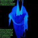 Life Size Blue Halloween Hanging Ghost Prop Decoration Blacklight Reactive Glow