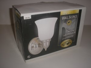 Hampton Bay Satin Nickel finish Wall Sconce